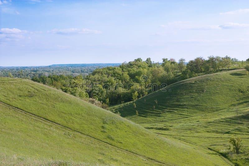 zielone wzgórza zdjęcia stock