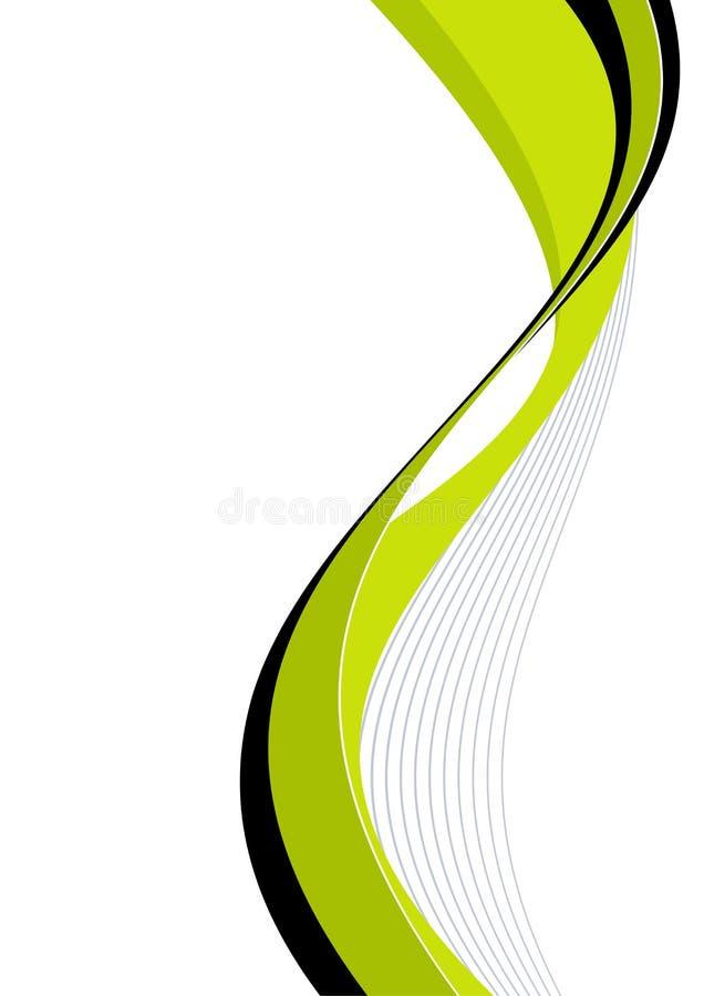 zielone zakrzywionych liny ilustracji