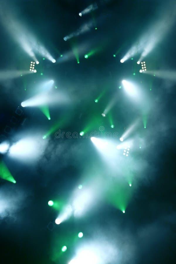 zielonego światła show niebieski obraz stock