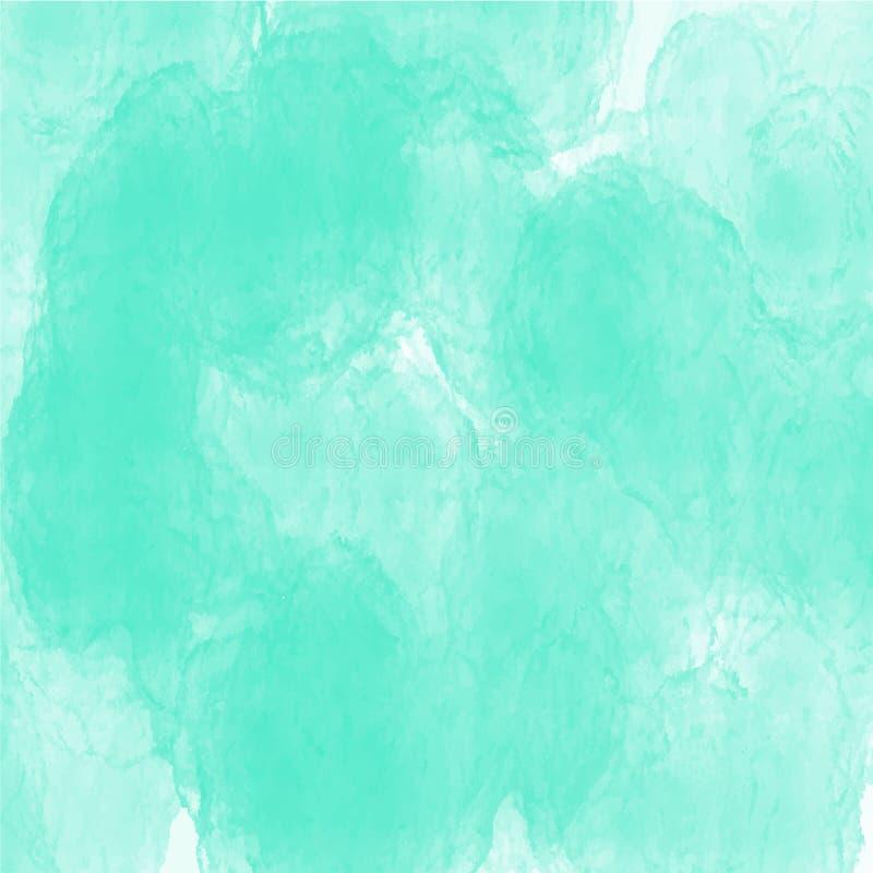Zielonego akwareli tła tekstury wektorowy wzór dla stron internetowych, prezentacji lub grafiki, obrazy stock