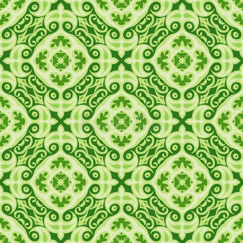 Zielonego Bożenarodzeniowego wektorowego tła bezszwowe płytki royalty ilustracja