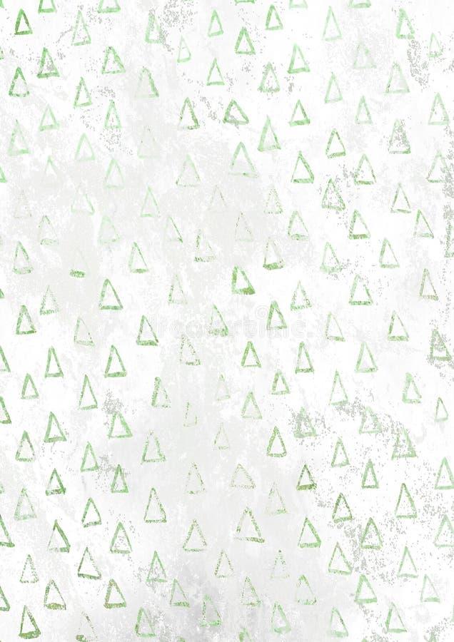 Zielonego choinka wzoru białej księgi pusty ośniedziały tło ilustracja wektor