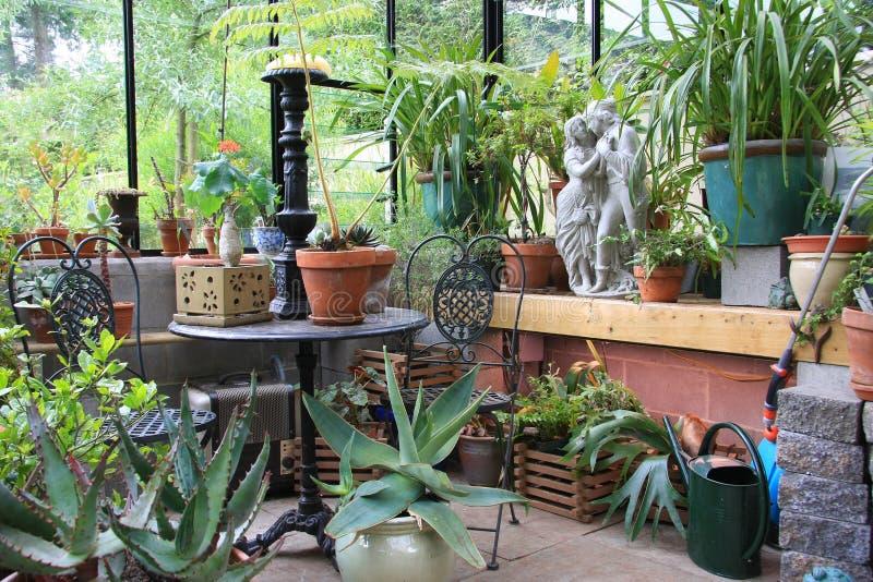 zielonego domu wnętrze zdjęcie stock