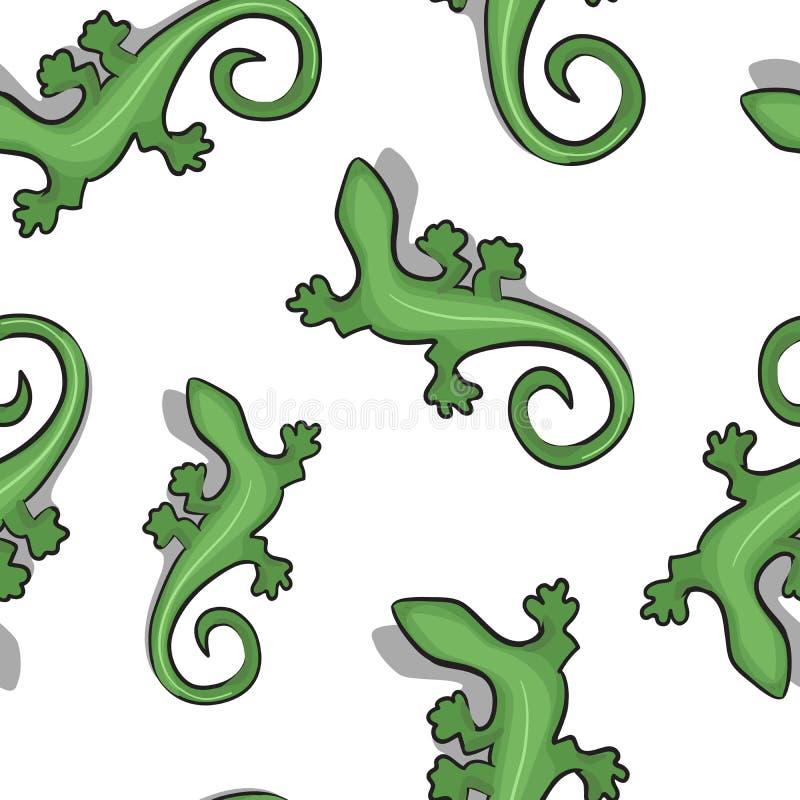 Zielonego gekonu bezszwowy tło zdjęcie stock