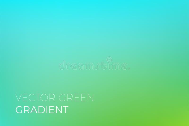 Zielonego koloru gradientowego tła tła projekta szablonu eco natury wektorowa ekologia ilustracja wektor