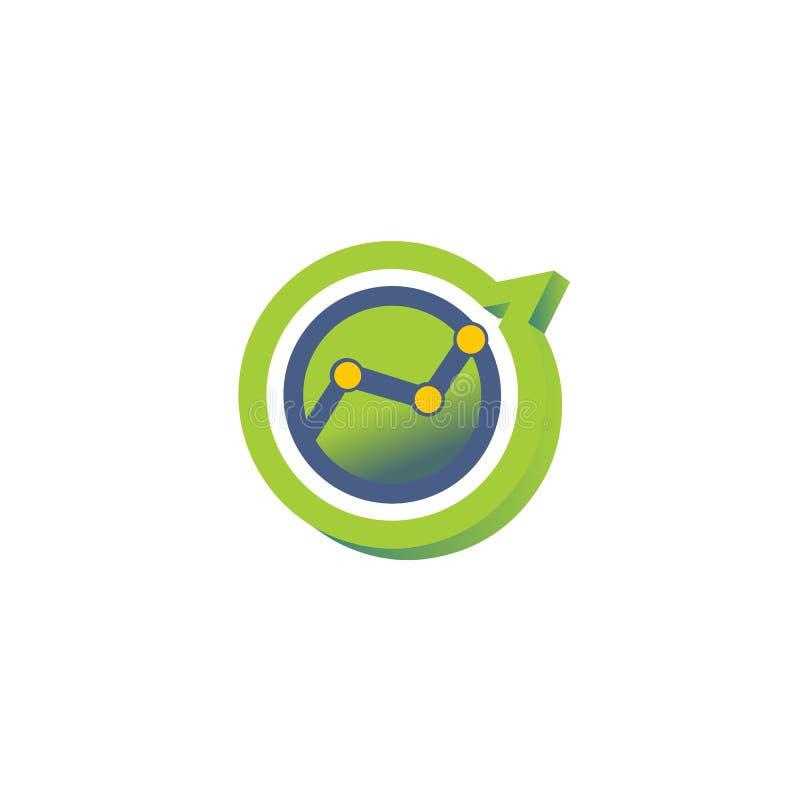 Zielonego koloru loga ilustracja dla narastającego biznesu fotografia royalty free