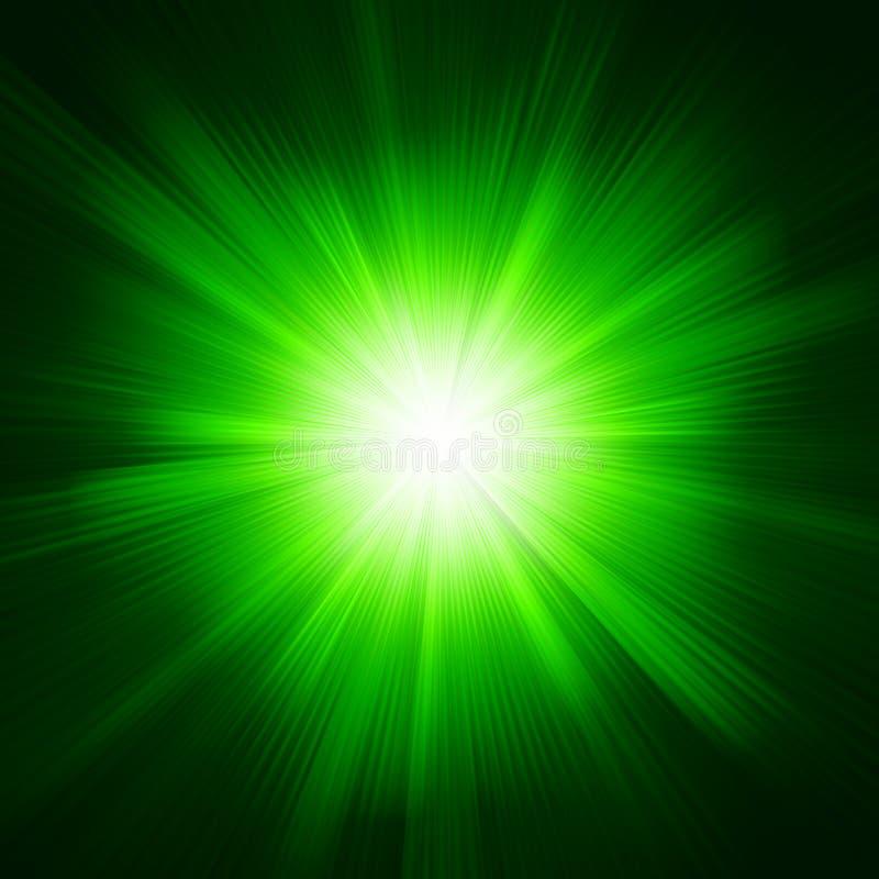Zielonego koloru projekt z wybuchem. EPS 10 ilustracji