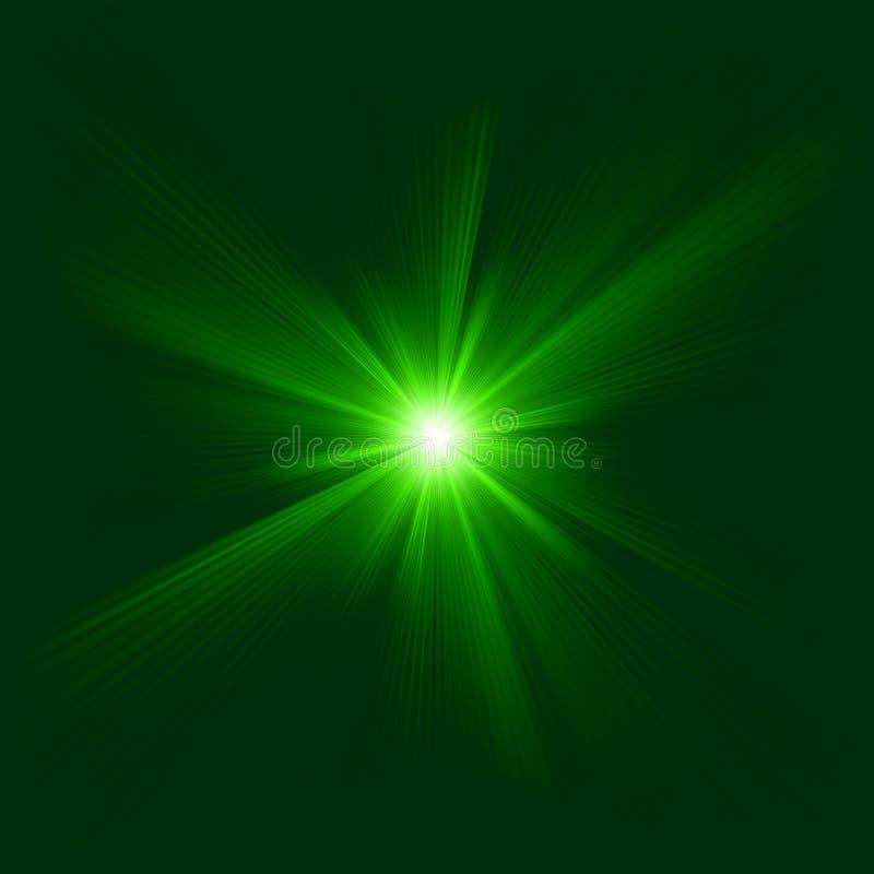 Zielonego koloru projekt z wybuchem. EPS 8 ilustracja wektor