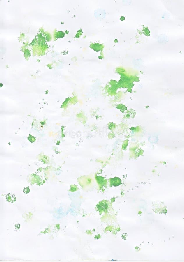 zielonego koloru splats ilustracji