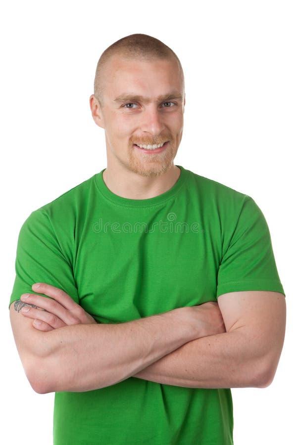zielonego mężczyzna koszula zdjęcia stock
