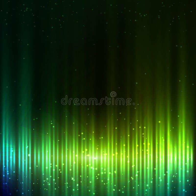 Zielonego olśniewającego wyrównywacza wektorowy abstrakcjonistyczny tło royalty ilustracja
