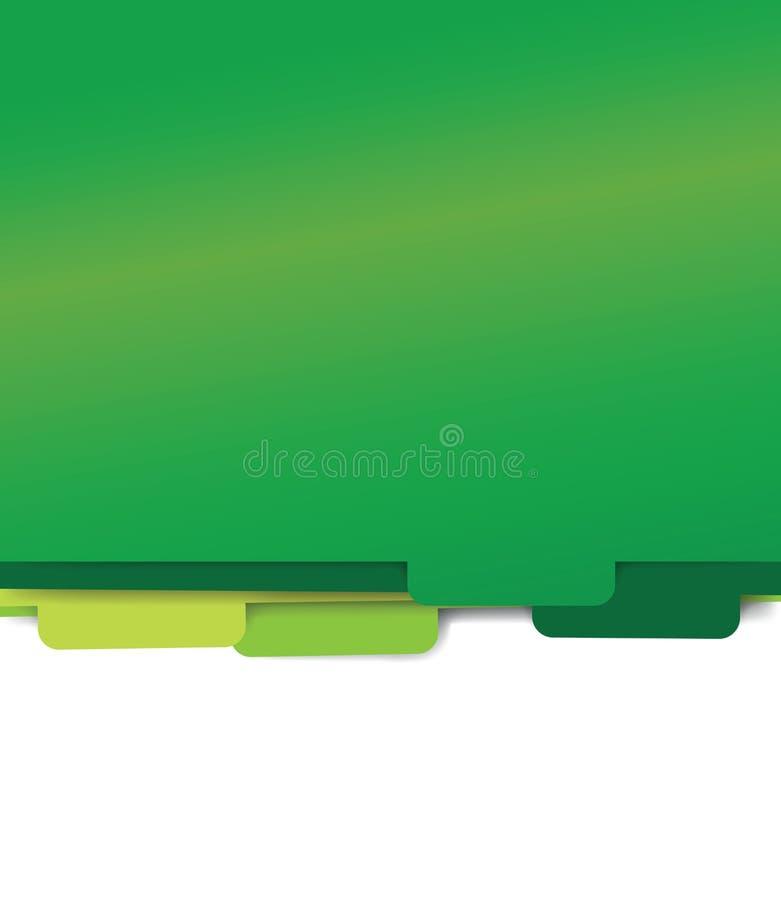 Zielonego papieru falcówki kartoteki ilustracji