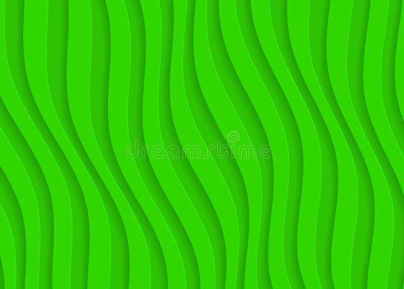 Zielonego papieru geometryczny wzór, abstrakcjonistyczny tło szablon dla strony internetowej, sztandar, wizytówka, zaproszenie ilustracji