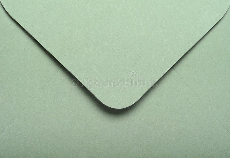 Zielonego papieru koperta zamknięta w górę Pojęcie listy, wiadomości, korespondencja zdjęcia royalty free