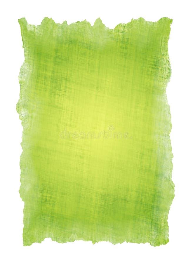zielonego papieru pergamin royalty ilustracja