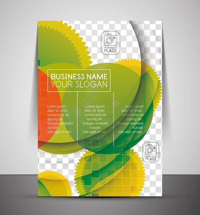 Zielonego projekta druku biznesowy korporacyjny szablon ilustracja wektor