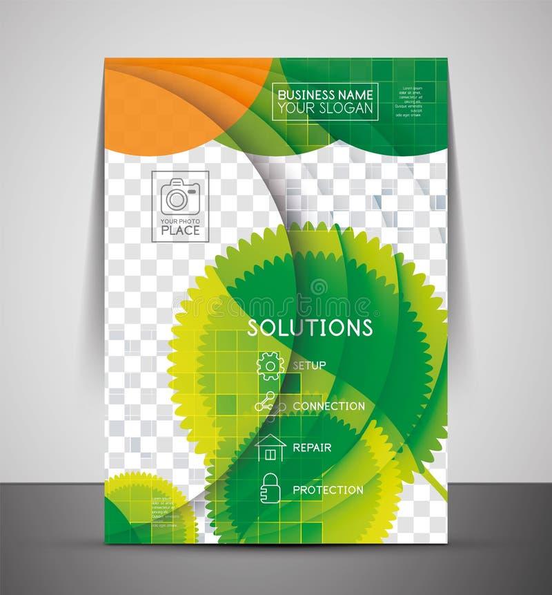 Zielonego projekta druku biznesowy korporacyjny szablon ilustracji
