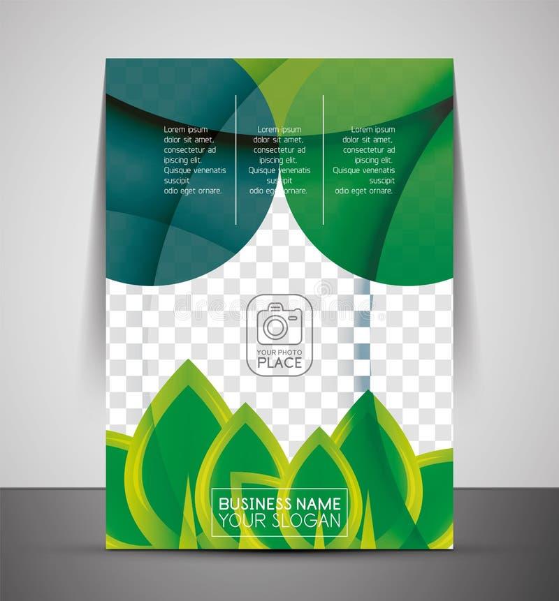 Zielonego projekta druku biznesowy korporacyjny szablon royalty ilustracja