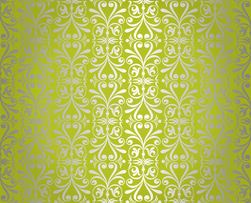 Zielonego rocznika tapetowy projekt fotografia stock