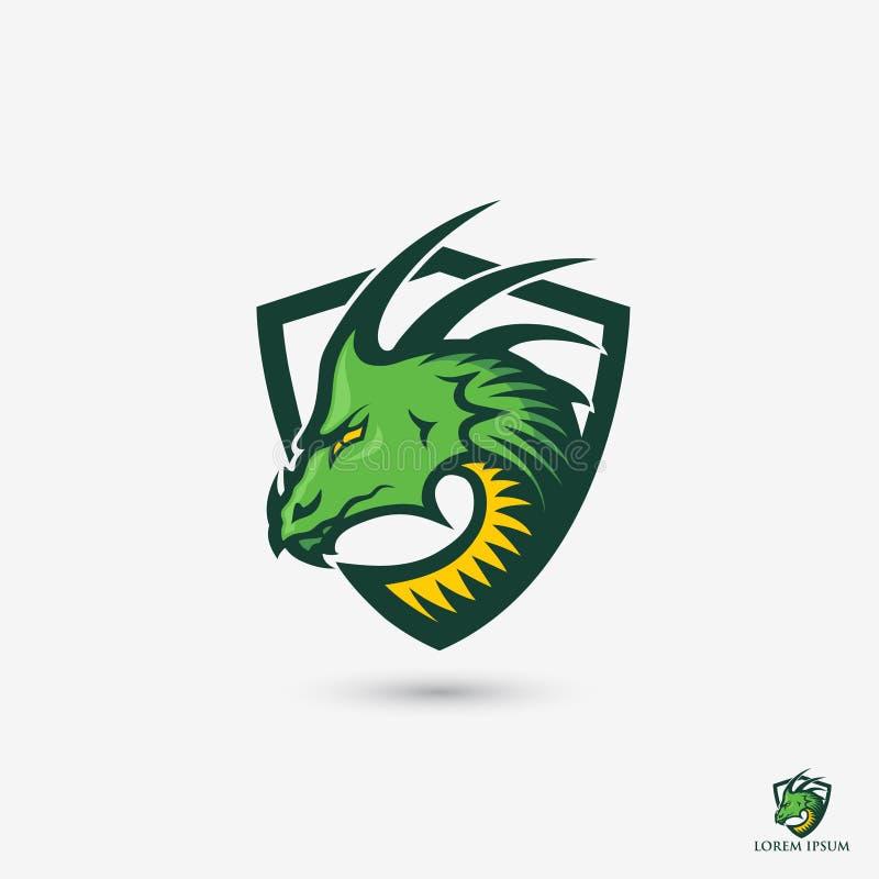 Zielonego smoka symbol - wektorowa ilustracja ilustracja wektor
