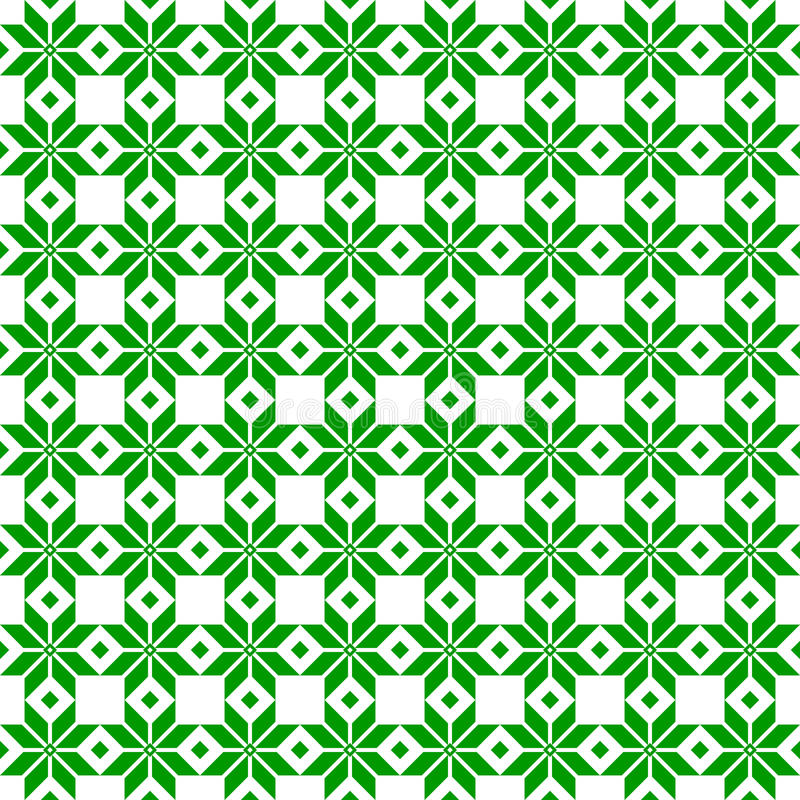 Zielonej białoruszczyzny święty etniczny ornament, bezszwowy wzór również zwrócić corel ilustracji wektora Słoweński Tradycyjny D zdjęcia royalty free