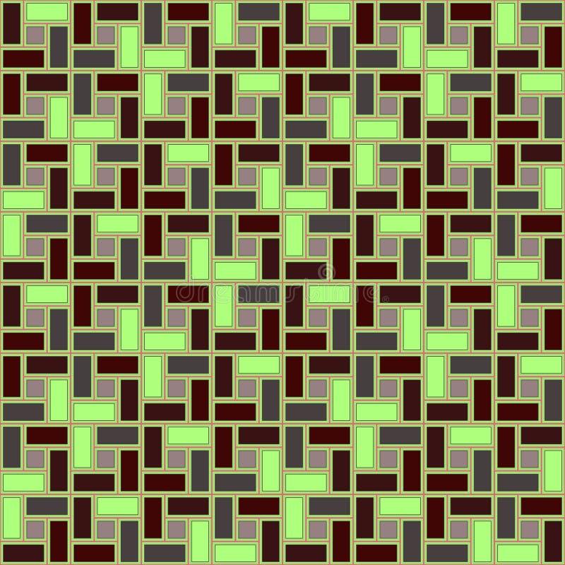 Zielonej cegły spirali płytki clockwise tekstury bezszwowy wzór ilustracji