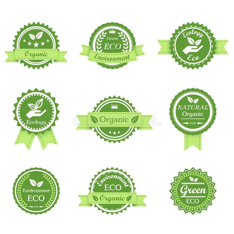 Zielonej ekologii retro odznaka royalty ilustracja