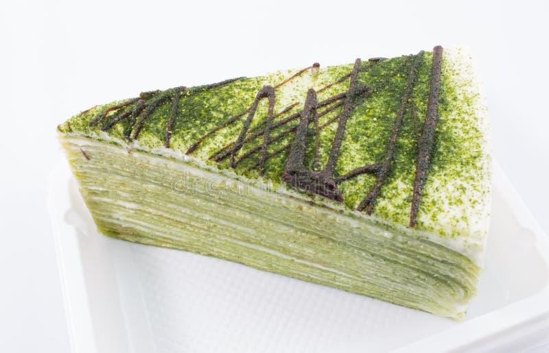 Download Zielonej Herbaty Krepy Tort Obraz Stock - Obraz złożonej z kopiasty, kawałek: 42525213