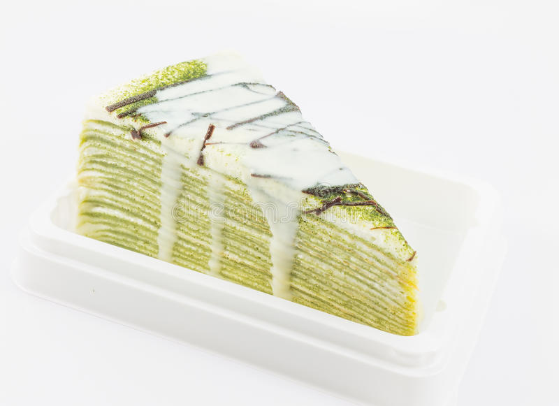 Download Zielonej Herbaty Krepy Tort Zdjęcie Stock - Obraz złożonej z cukierki, milka: 42525236