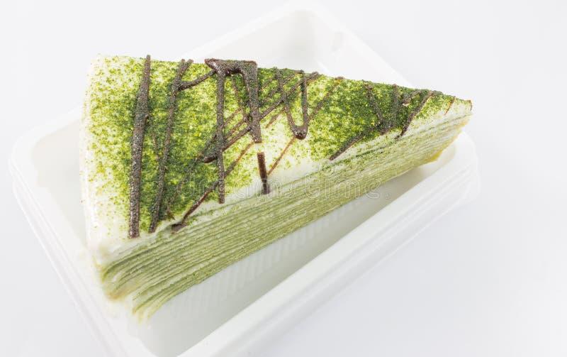 Download Zielonej Herbaty Krepy Tort Obraz Stock - Obraz złożonej z krepa, biały: 42525257