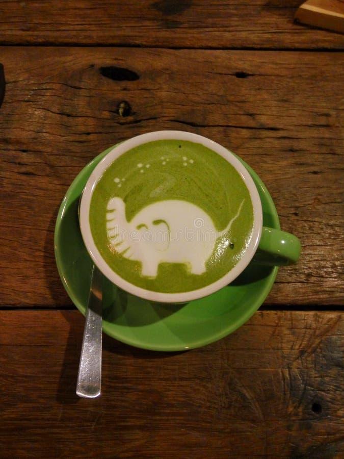 Zielonej herbaty latte obrazy stock