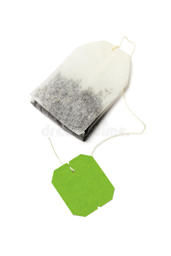 Zielonej herbaty torba zdjęcia royalty free