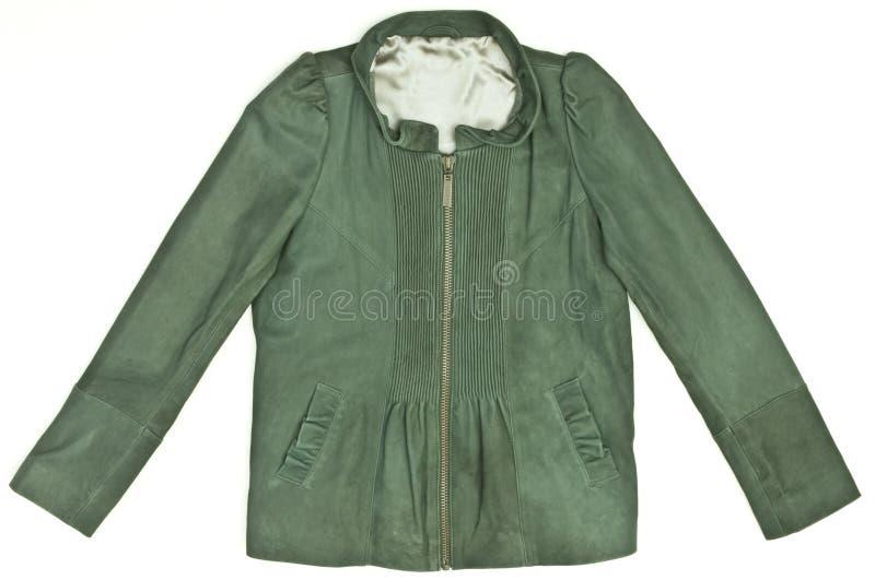 zielonej kurtki s kobiety obrazy stock