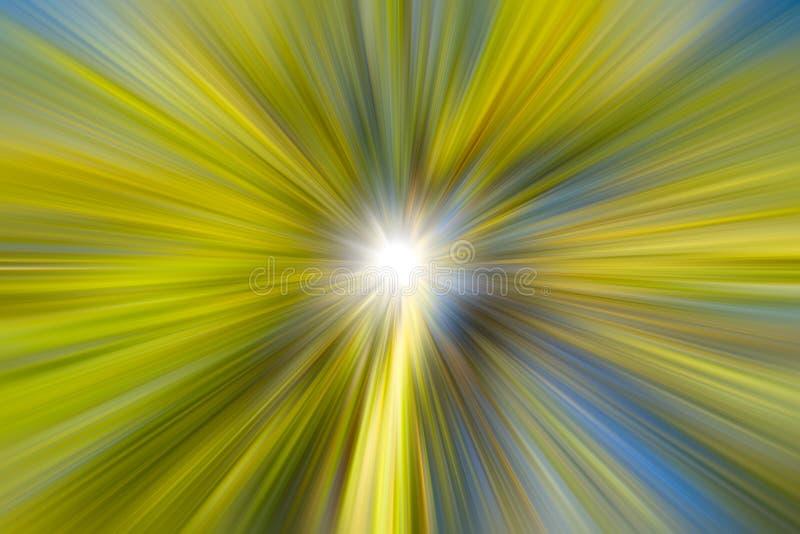 Zielonej natura ruchu plamy władzy poruszający tło ilustracji