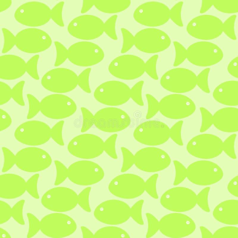 Zielonej ryba szkoły bezszwowy tło royalty ilustracja