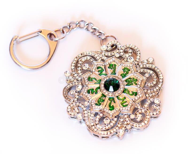 Zielonej Tara mantry Kluczowy łańcuch zdjęcia royalty free