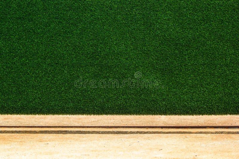 Zielonej trawy ściany tekstury tło Sztuczna trawy ściana z obraz royalty free