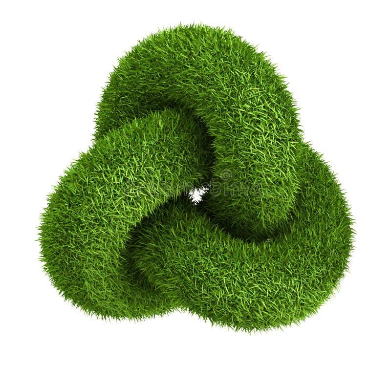 Zielonej trawy kępki abstrakcjonistyczny logo royalty ilustracja