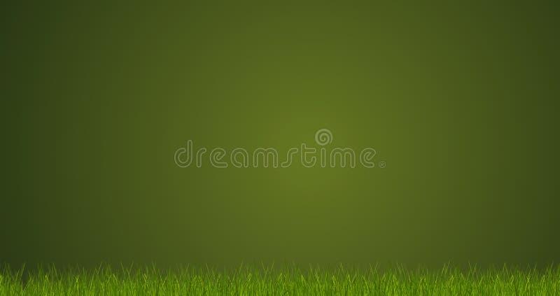 Zielonej trawy ostrza trawa 3d-illustration royalty ilustracja