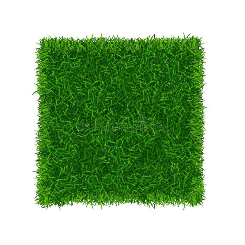 Zielonej trawy pola sztandaru Futbolowy miejsce wektor ilustracja wektor
