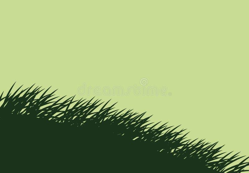 Zielonej trawy rośliny projekt ilustracja wektor