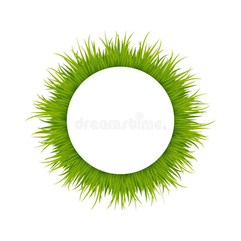 Zielonej trawy round rama ilustracja wektor