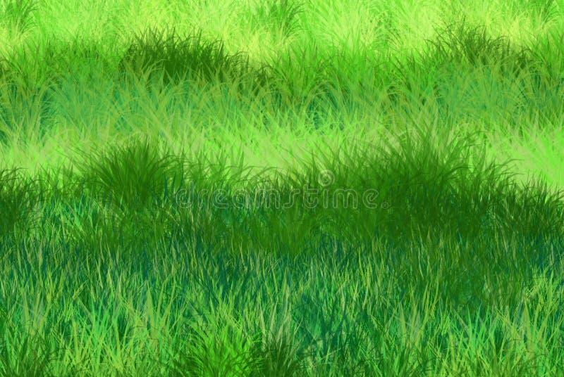 Zielonej trawy tło ilustracja wektor