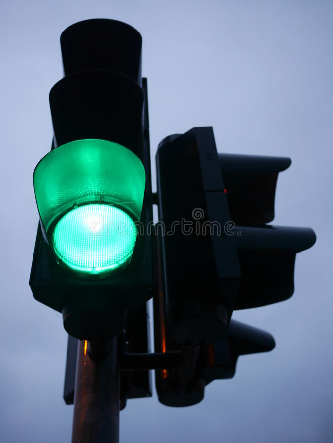 Zielony światła ruchu, obraz royalty free