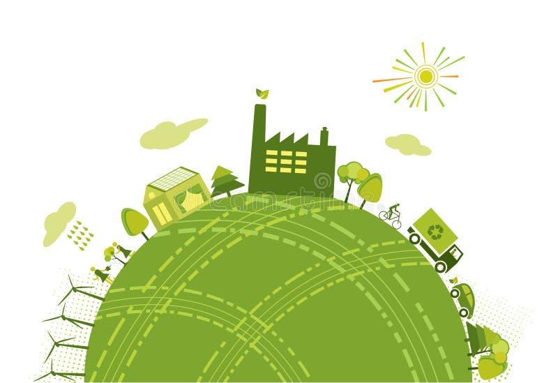 Zielony świat royalty ilustracja