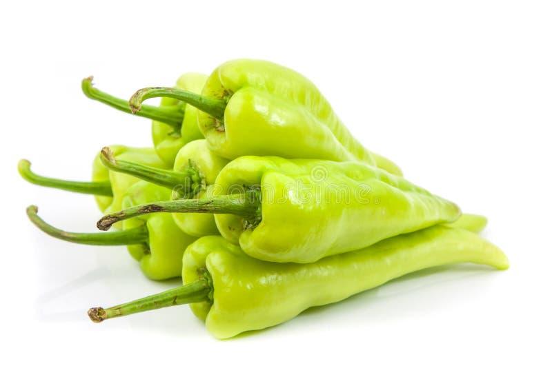 Zielony świeży capsicum warzywo zdjęcia royalty free