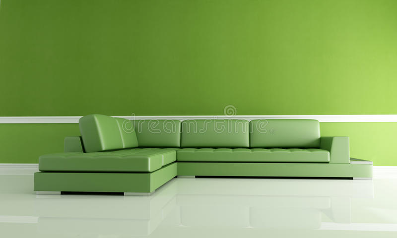 zielony żywy pokój ilustracji