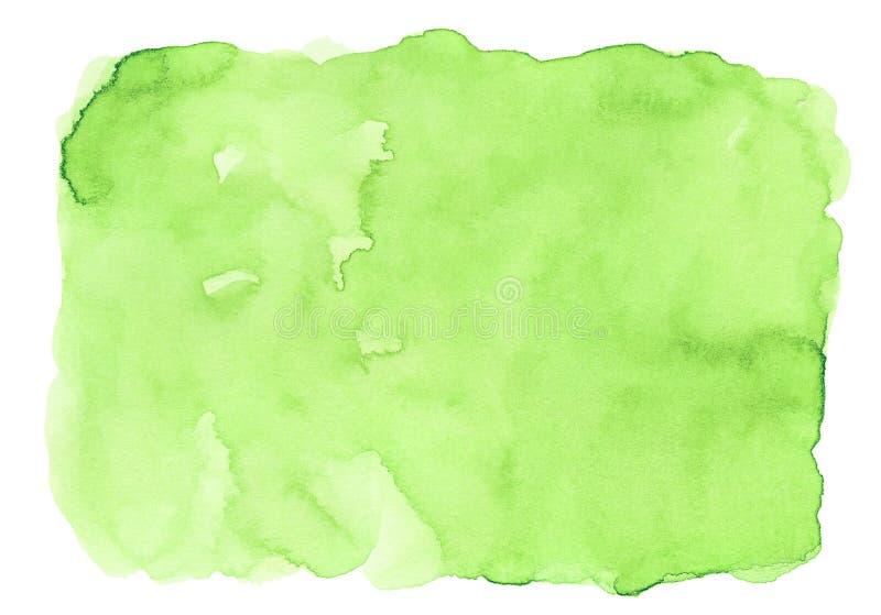 Zielony abstrakcjonistyczny akwareli tło dla tekstur tło i sieć sztandarów projekta ilustracja wektor