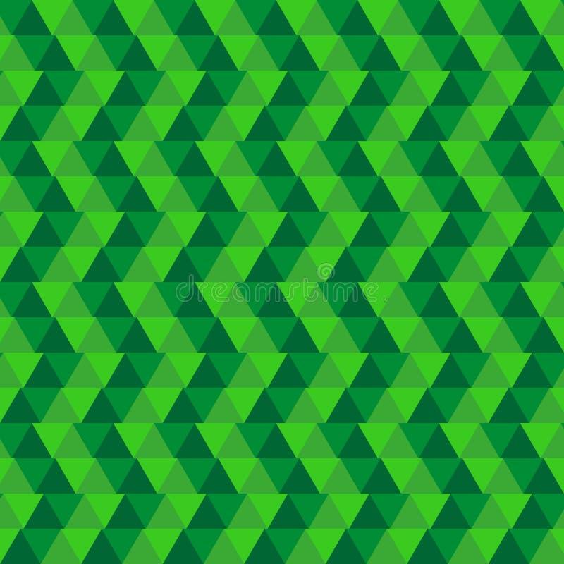 Zielony abstrakcjonistyczny geometrical tło Tło trójboki royalty ilustracja