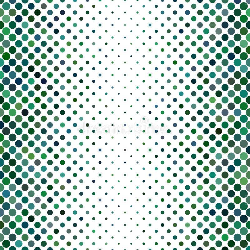 Zielony abstrakcjonistyczny kropka wzoru tło ilustracja wektor